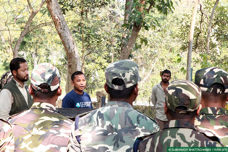 Assam, Awareness for Conservation, CWRC, Floods, Kaziranga National Park, Sashastra Seema Bal, Training
