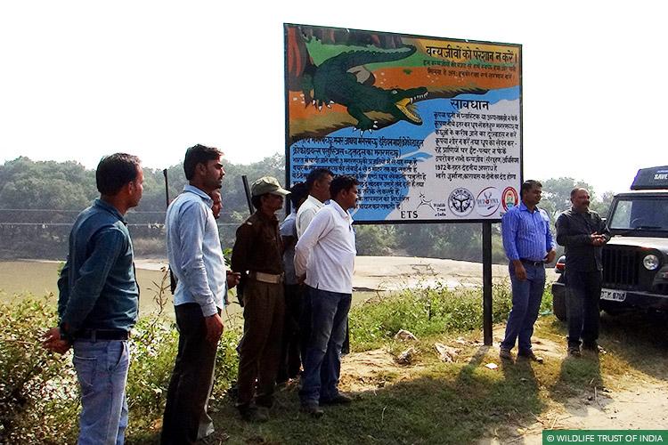 Dudhwa National Park, Uttar Pradesh, Crocodiles, Conflict Mitigation, Awareness, Signboards, Turtles
