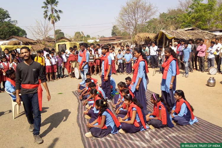 Maharashtra, Gondia, Vidarbha Tiger Project, Tigers, Navegaon-Nagzira, Street Theatre